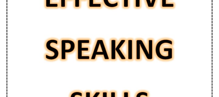 Developing effective speaking skills