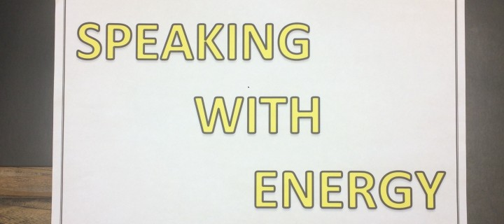 Speaking with energy