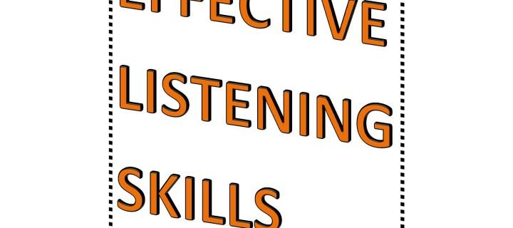 Developing effective listening skills