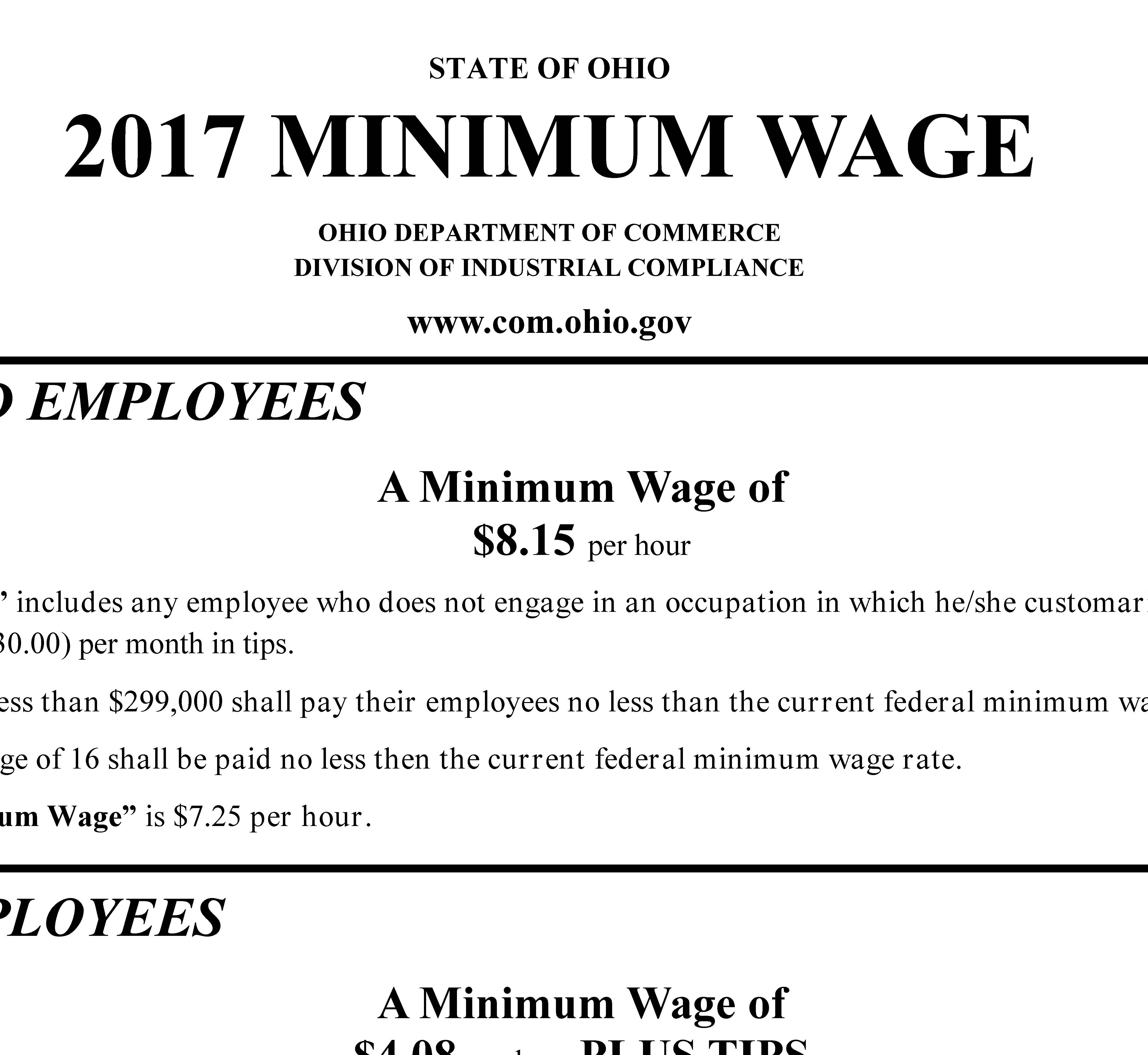 the federal and state minimum wage Small businesses must comply with certain state and federal minimum wage laws these laws ensure workers receive fair pay while employed and seek to provide equal opportunity for all workers who seek employment.