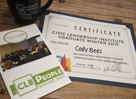 Cody Bees participates in the Cleveland Leadership Center Civic Leadership Institute