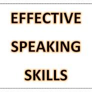 Developing effective speaking skills